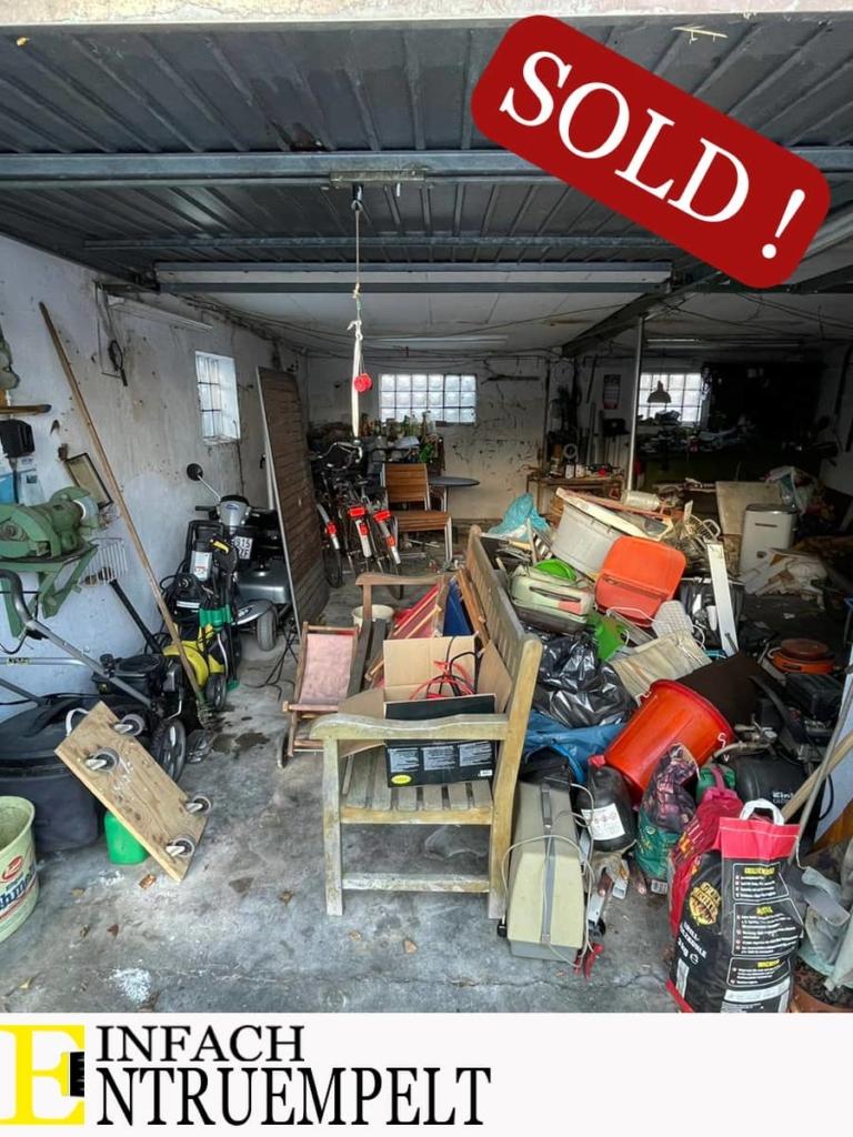 Garage verkaufsfertig entruempeln